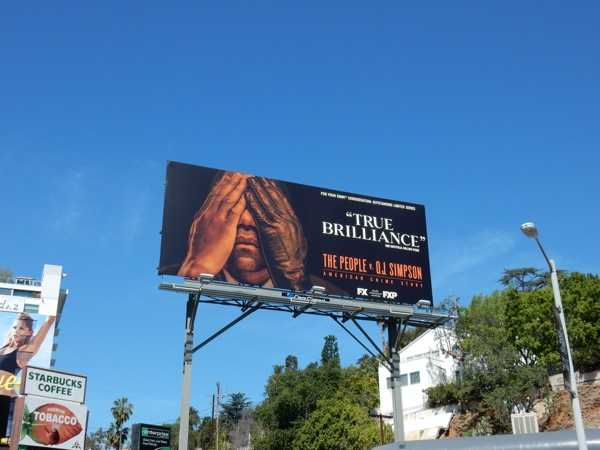 People v OJ Simpson True brilliance Emmy billboard