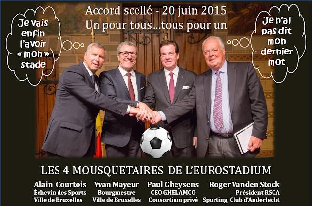 EUROSTADIUM BRUSSELS - Nouveau stade national de football à Grimbergen - Suite du feuilleton rocambolesque de 2015 à...-  Accord scellé le 20 juin 2015 - Bruxelles-Bruxellons