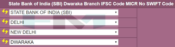 SBI ifsc code