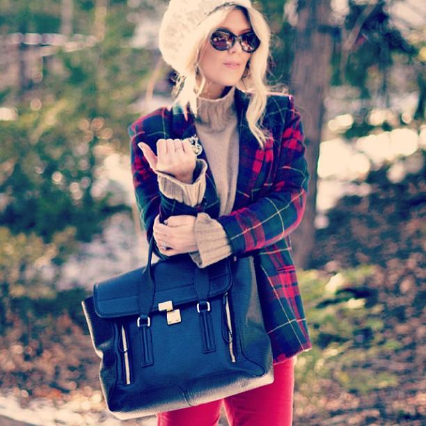 winter style, plaid