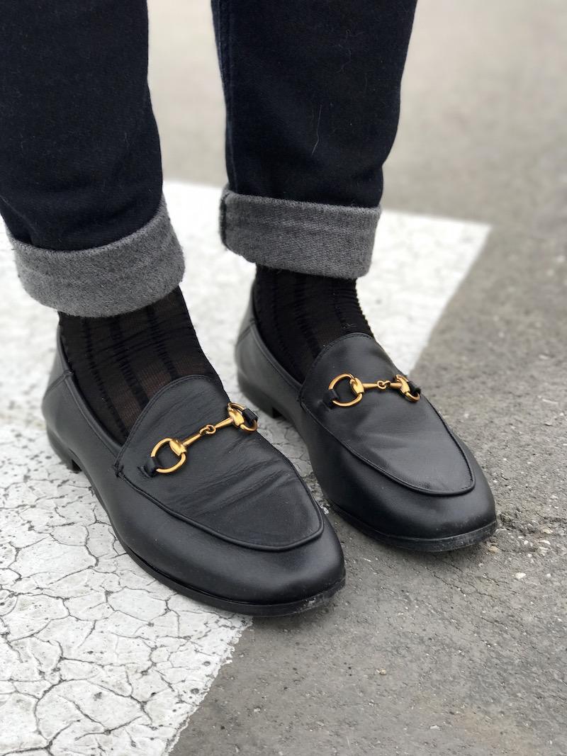 mocassin noir like Gucci