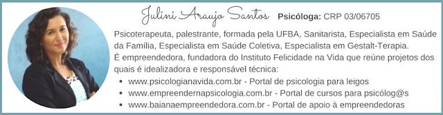 Julini Araujo Santos Psicóloga em Salvador