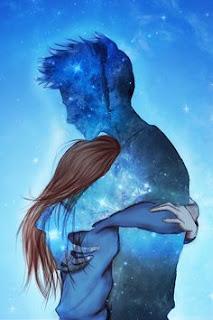 wanita memeluk manusia es