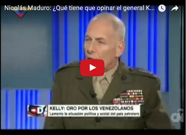 Maduro muy preocupado por nuevo cargo de John Kelly en USA