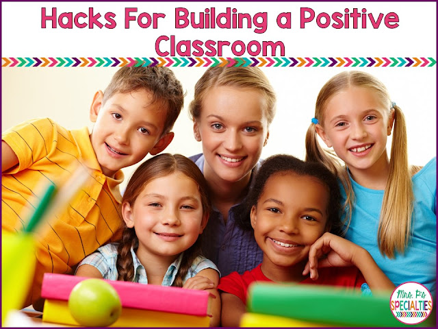 As the special education teacher in the classroom, it is our job to make sure that everyone is staying positive with the students and that the learning environment is a positive place where students feel comfortable enough to take risks and learn. Here are 2 hacks to help you create a positive place for students.