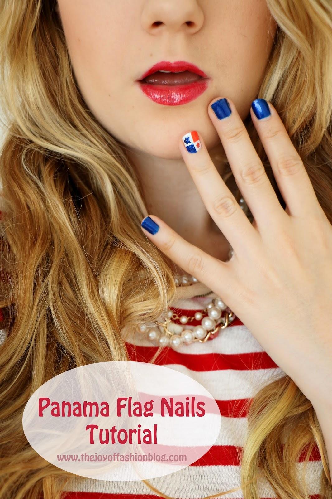 Loving these super cute flag nails!