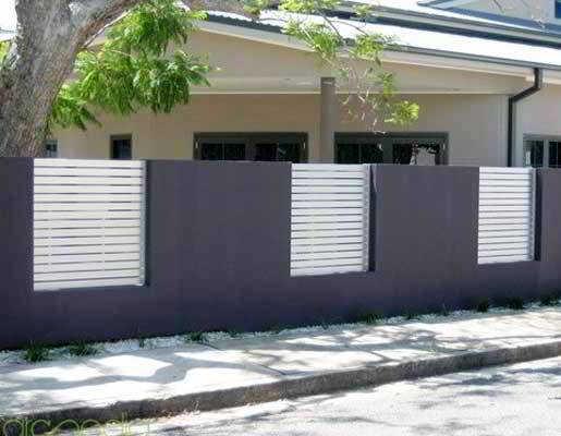 Desain Model Pagar Rumah Modern Warna Putih