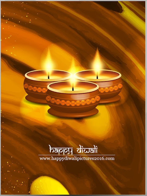 Happy Diwali Wishes / Greetings 2016 with Diya Images 2016