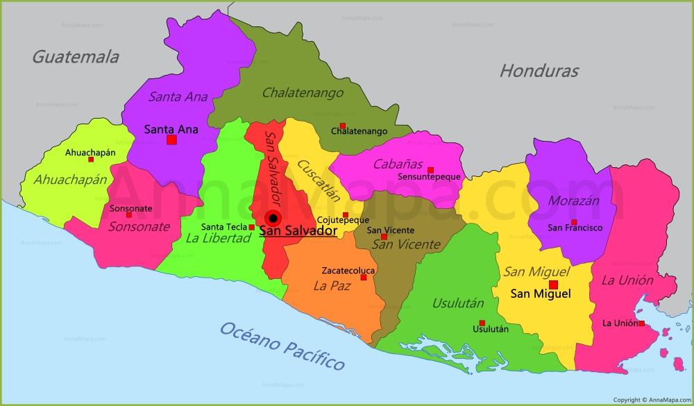 Mapa De El Salvador Imagenes De El Salvador