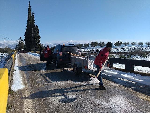 Σημαντική συμβολή της Ελληνικής Ομάδας Διάσωσης Αργολίδας στην αντιμετώπιση της ισχυρής χιονόπτωσης