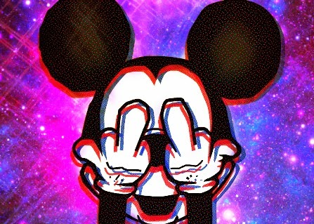 Mickey Mouse Hands Galaxy Tumblr