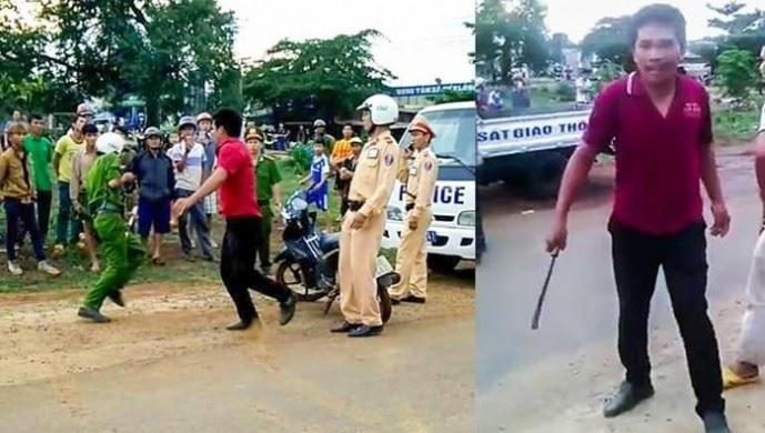 Gia Lai: Nam thanh niên rút dao chém 2 công an trọng thương khi bị yêu cầu dừng xe kiểm tra