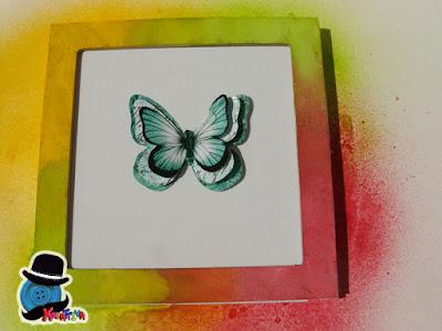 quadretto con farfalla