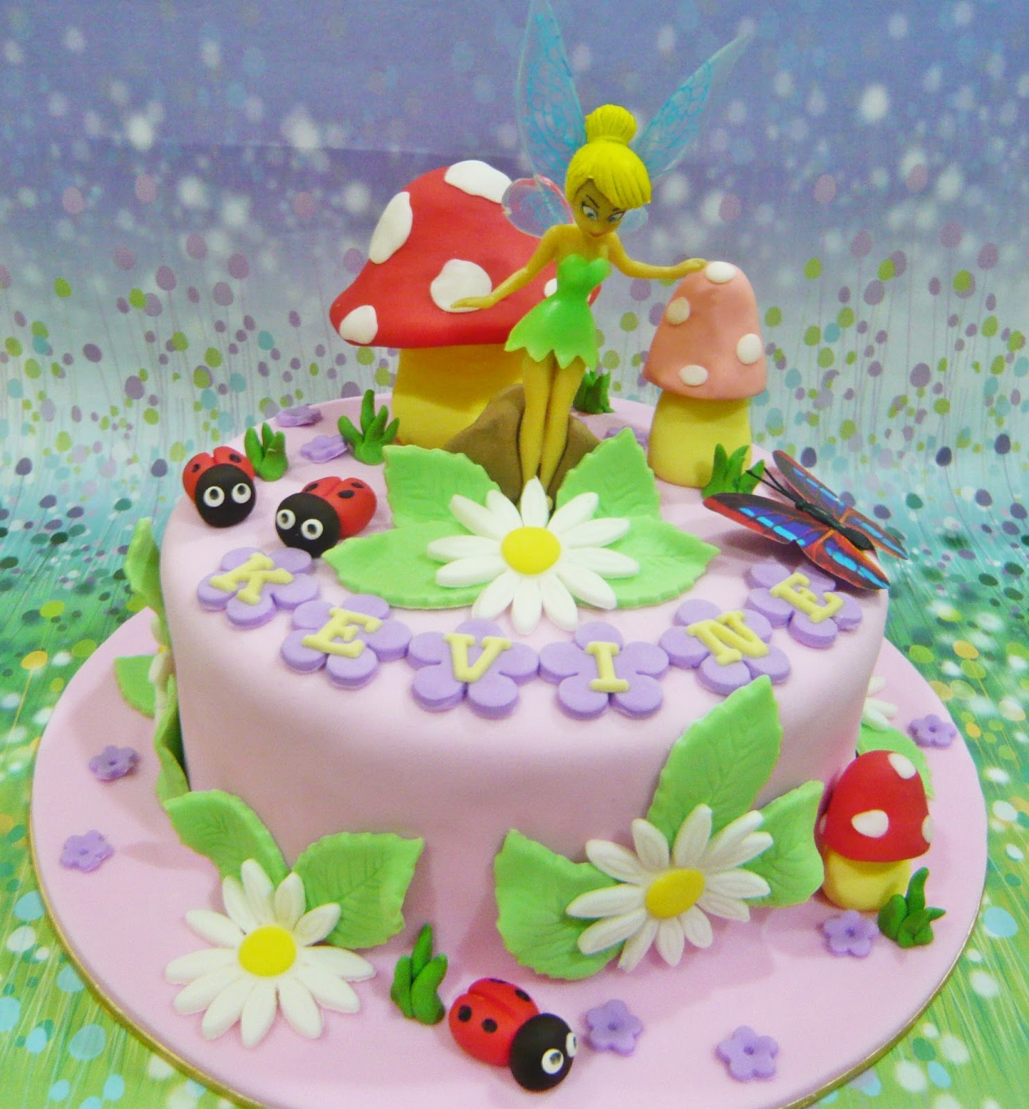 Tinkerbell And Fairy Friends Cake Topper