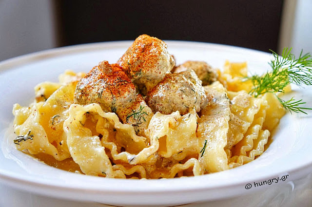 Meatballs in Creamy Sauce with Tagliatelle