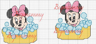 Amorevitacrocette Baby Minnie Bagnetto