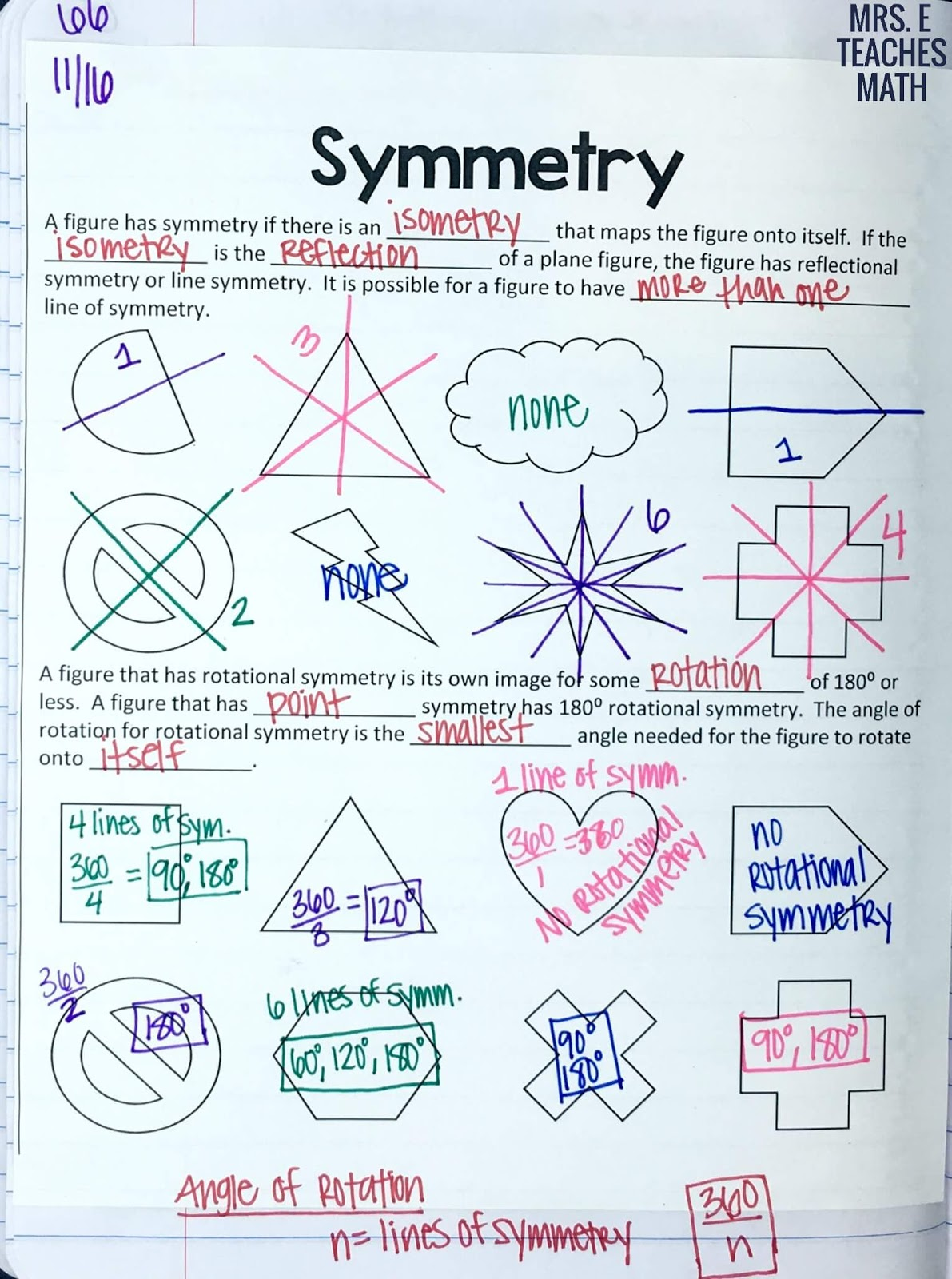 Dilations And Symmetry Inb Pages