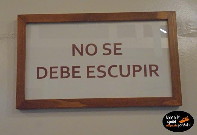 Aprende español callejeando por Madrid: Metro de Madrid informa