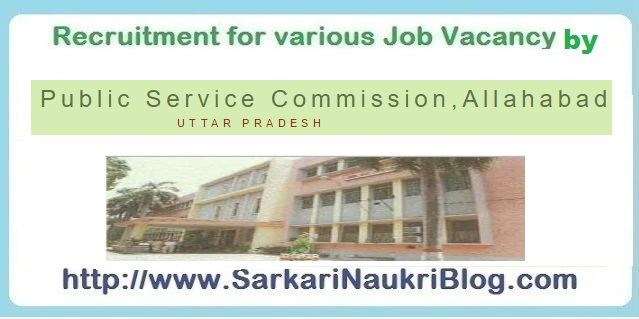 Naukri Vacancy Recruitment UP PSC Allahabad