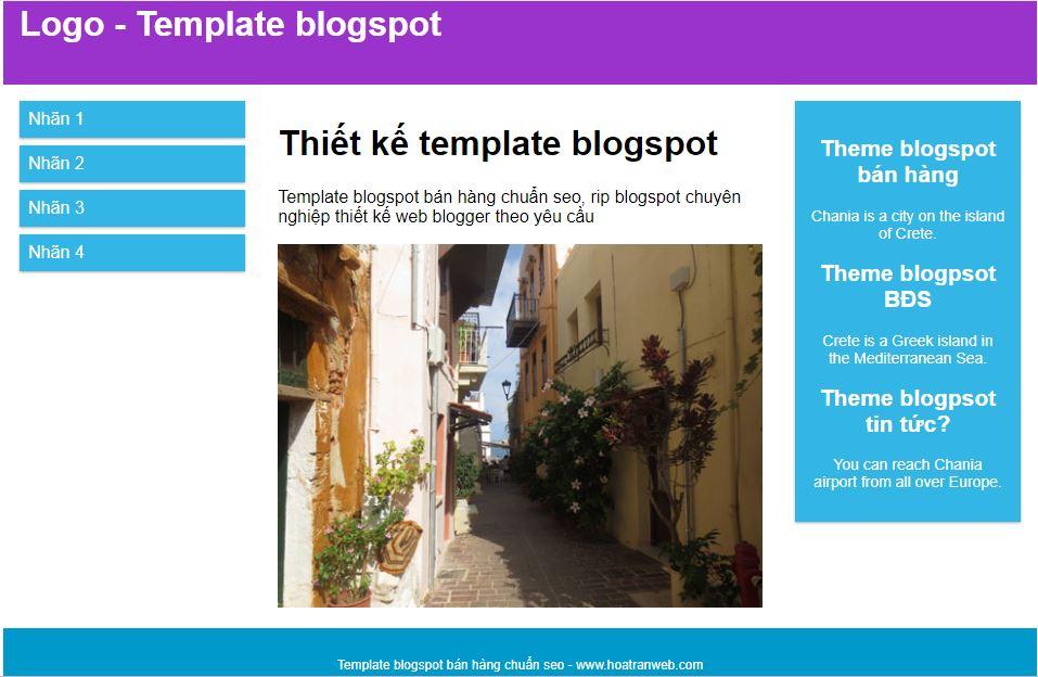 Bài 1 - Hướng dẫn thiết kế template blogspot