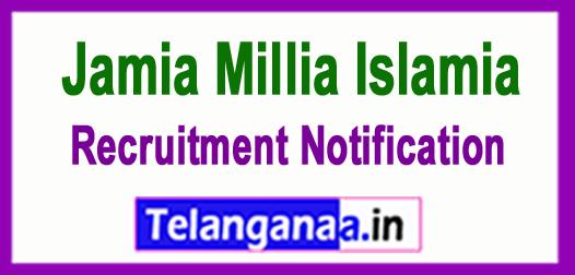 Jamia Millia Islamia Recruitment Notification 2017