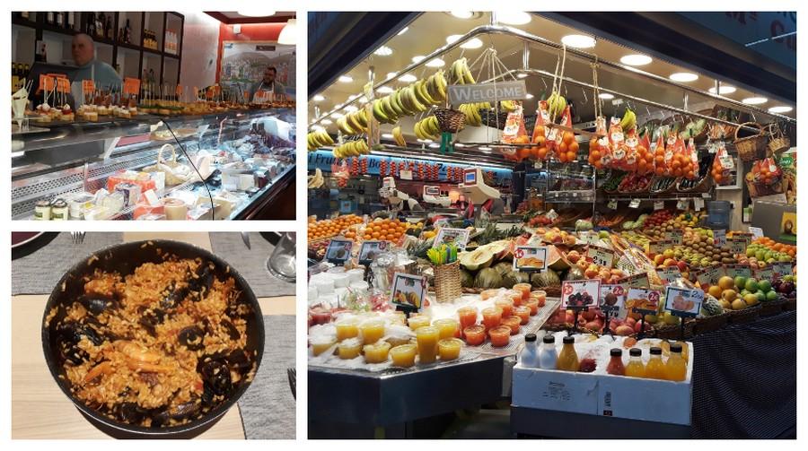 paelle et marchés de Barcelone