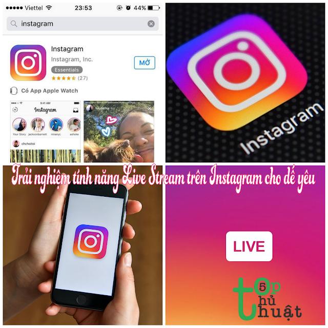 thủ thuật live stream trên instagram cho điện thoại