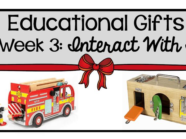 9 Weeks of Educational Gifts: Week 3