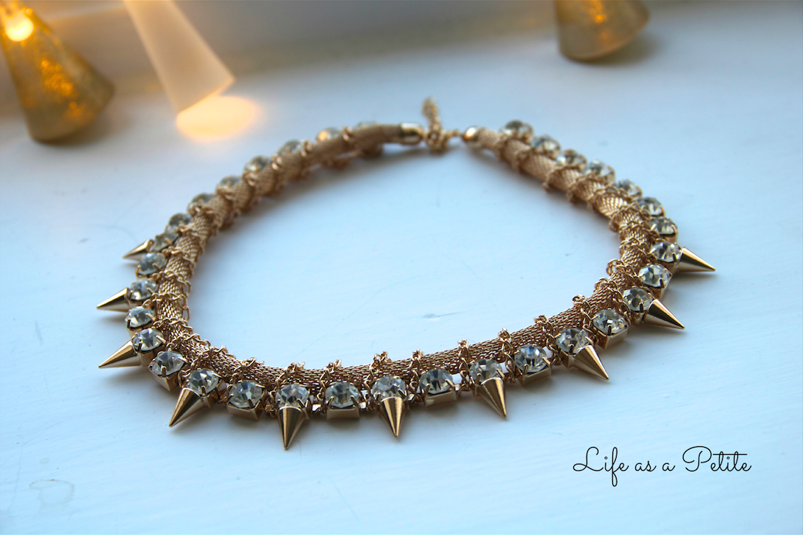 Rhinestone Spike Necklace lifeasapetite