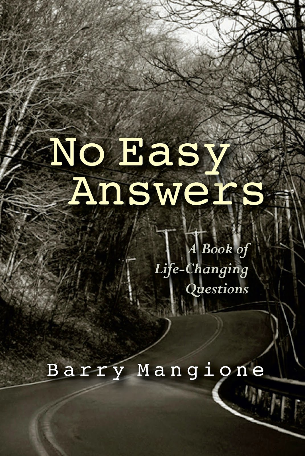 no easy answers, barry mangione, no easy answers barry, no easy answers book, no easy