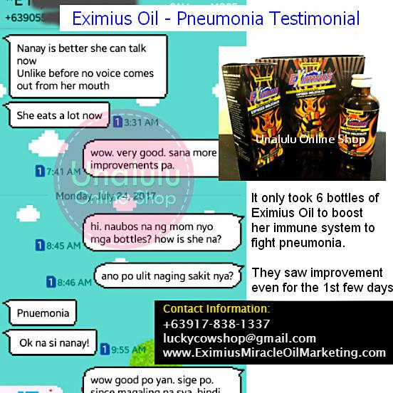 Eximius Oil Pneumonia Testimonial