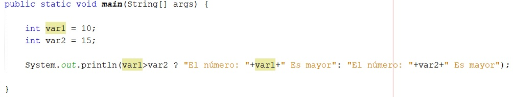 Cómo utilizar operador ternario en Java
