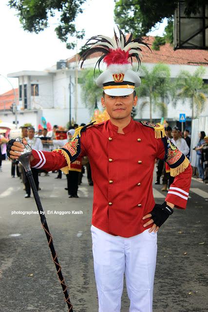 Mayoret drumband Gita Resik Praja Pemkot Tasikmalaya.