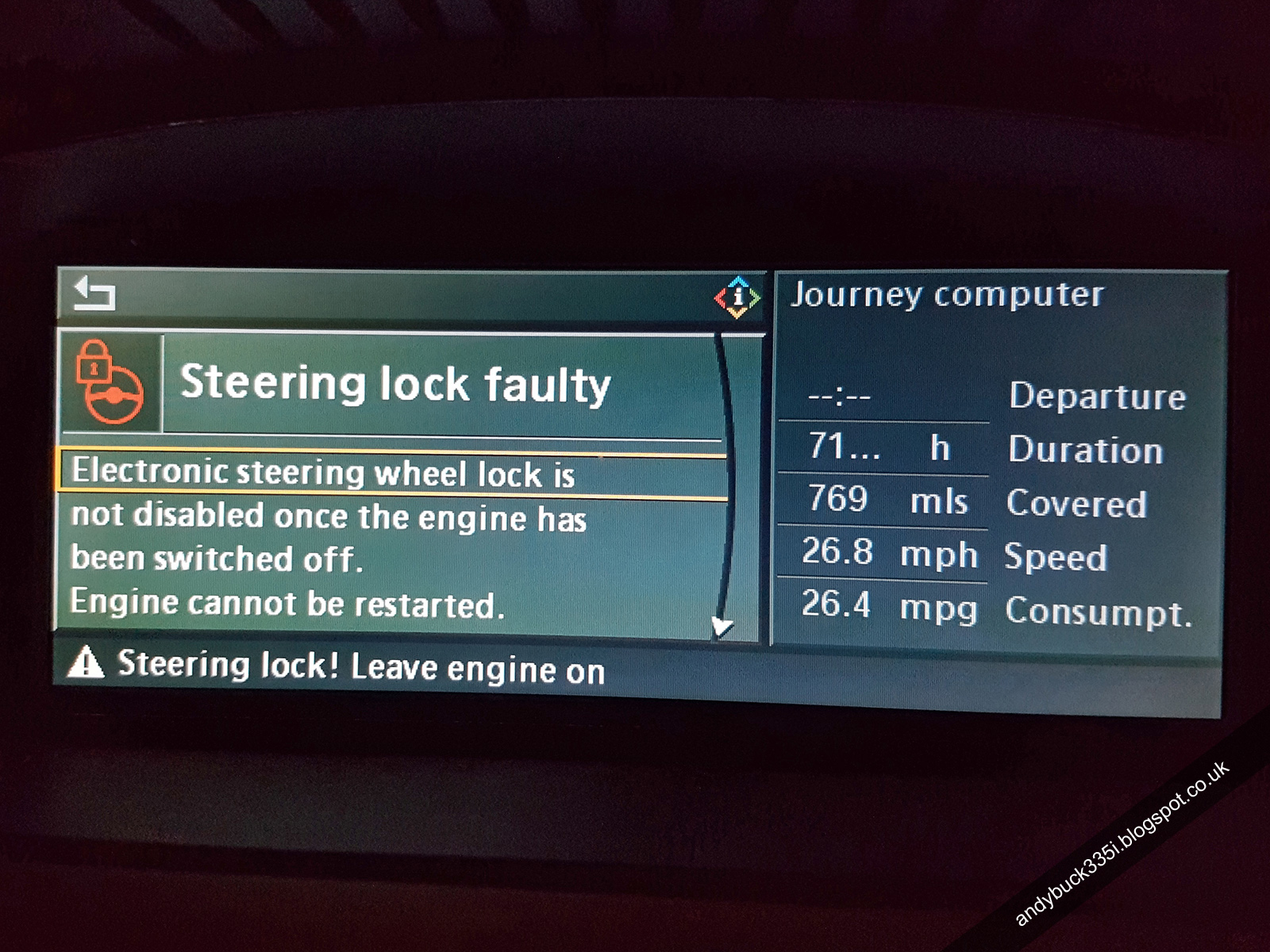 Replace Defective Steering Lock System Geek Tattoos Bmw E90 Electric Elv Circuit Diagram E92 Idrive Faulty Warning Message