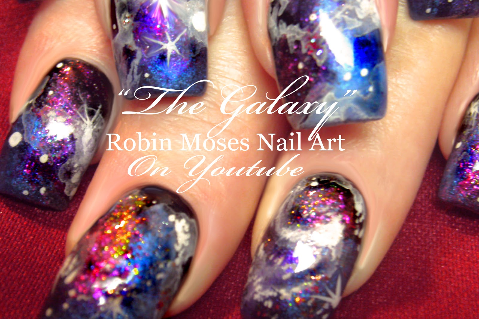 Nail Art by Robin Moses: Galaxy Nails \