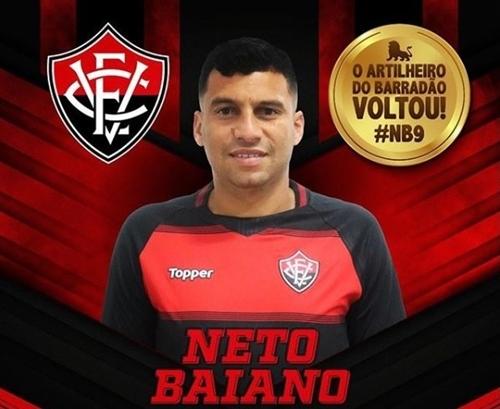 Vitória acerta retorno do atacante Neto Baiano