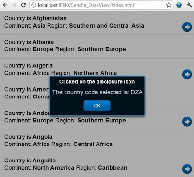 sencha touch list disclosure icon