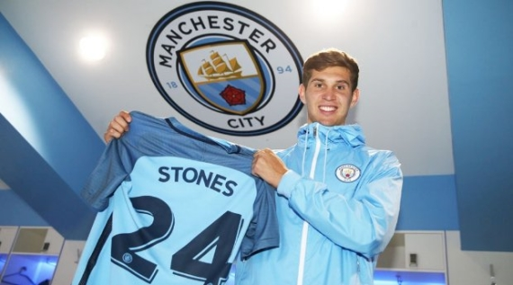 Manchester City signed John Stones from Everton for a fee of £47.5m.