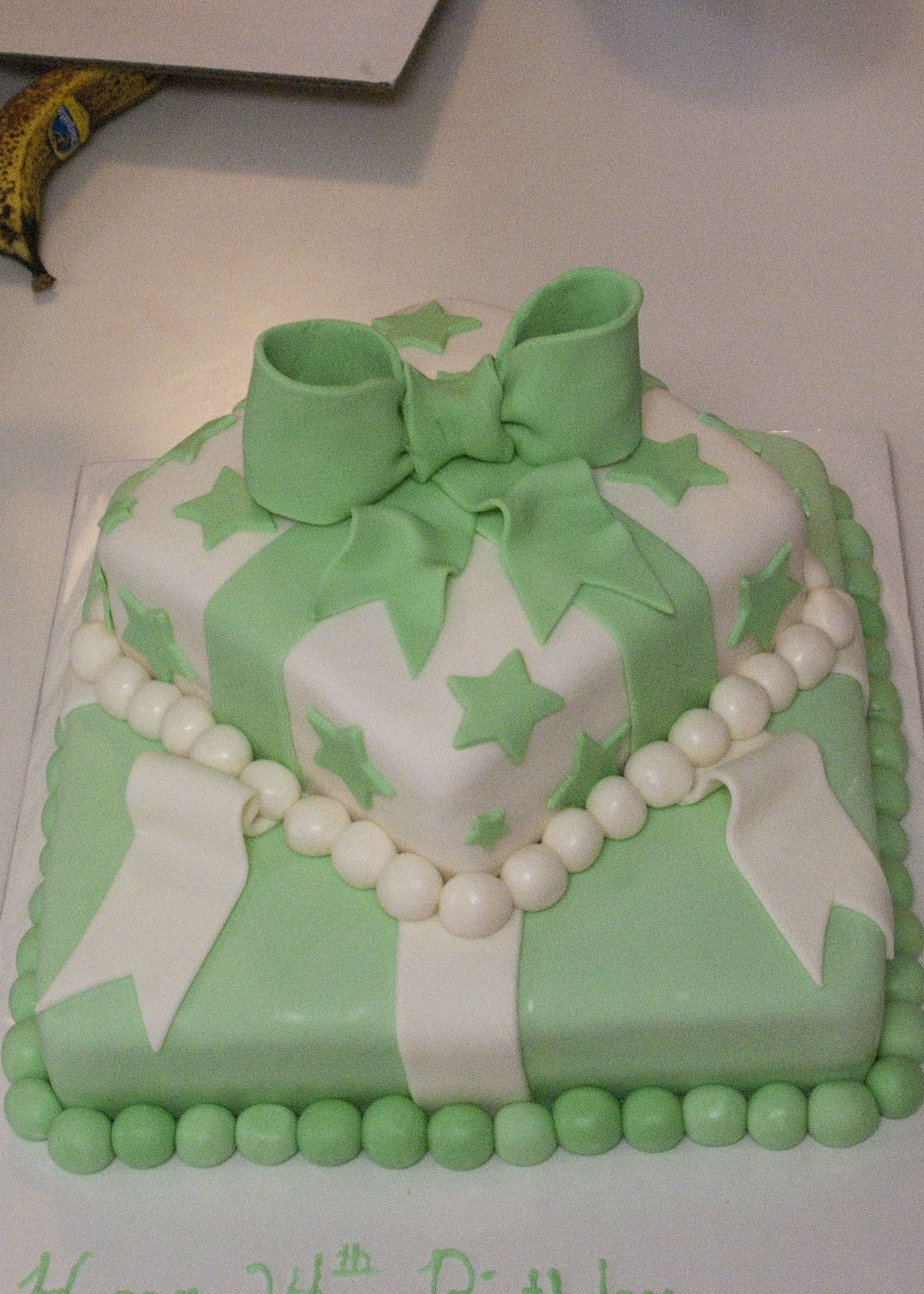 Michelle S Cakes Mint Green Birthday Cake