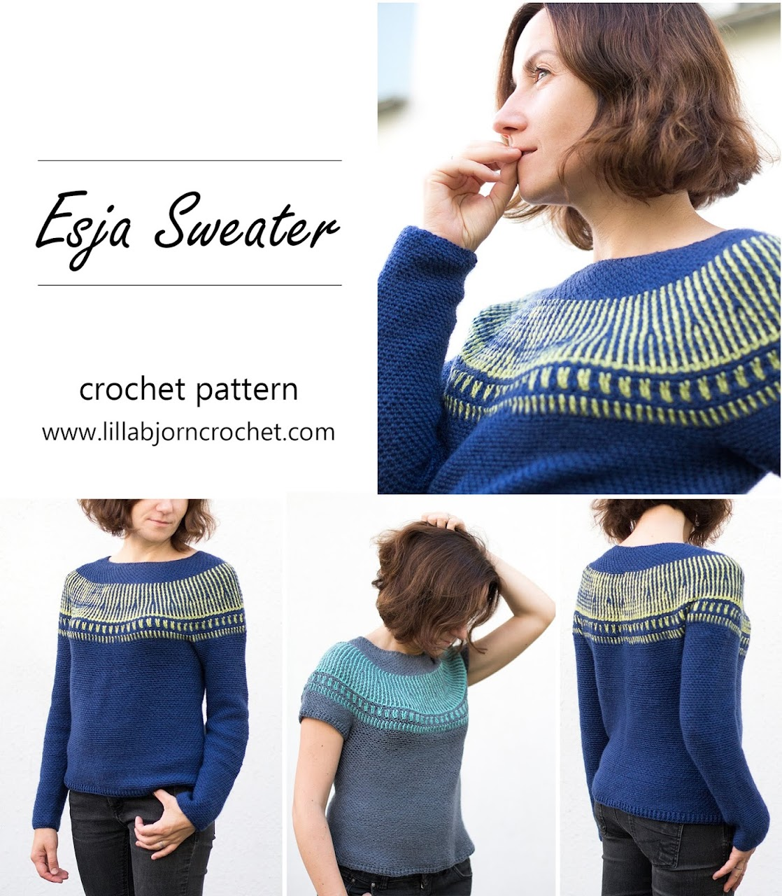 Esja Sweater crochet pattern by www.lillabjorncrochet.com