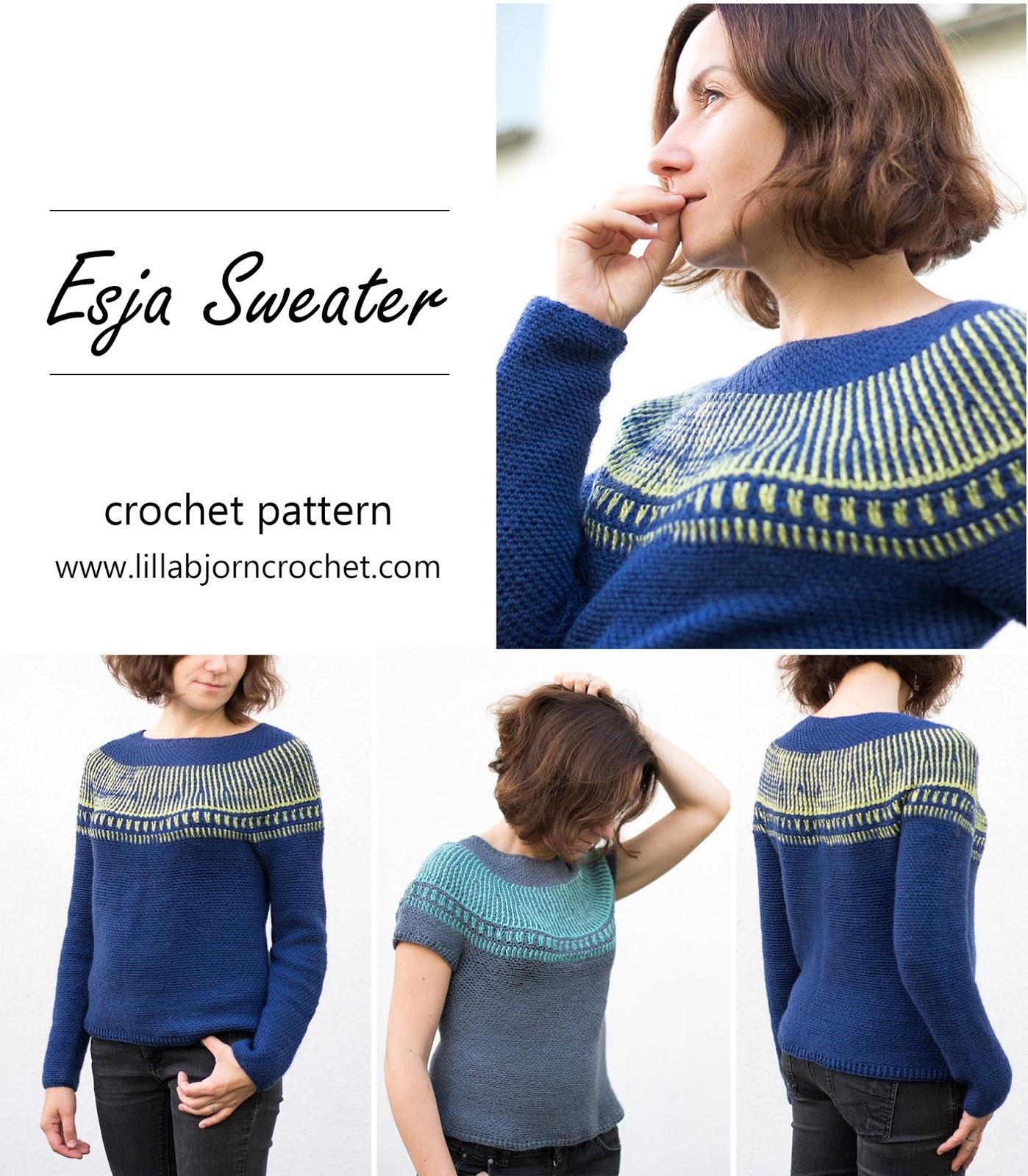 738821a0d718 Esja Sweater and Crochet Brioche  new pattern release