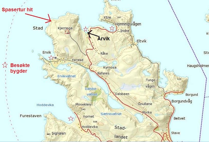 kart over stadlandet Lene sin!: Vestkapp! kart over stadlandet