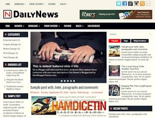 DailyNews Blogger Teması