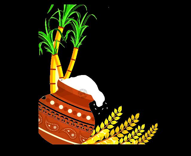pongal pot desin elements for free, Sankranti festival design elements for Free, Makara Sankranti festival Desings