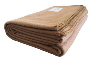 Rugged Tan Wool Blanket