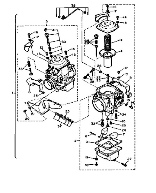 1982 Yamaha Virago 750 Xv750 Carburetor Diagram