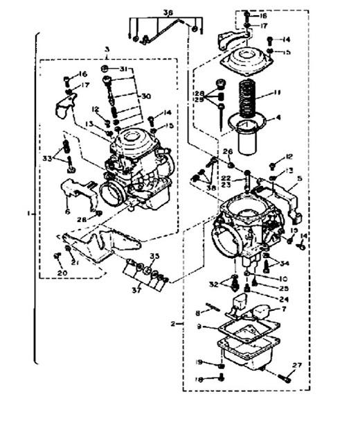 1982 Yamaha Virago 750 XV750 Carburetor Diagram  Yamaha