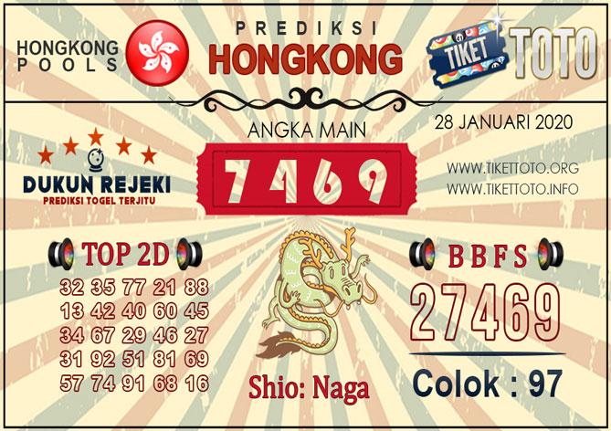 Prediksi Togel HONGKONG TIKETTOTO 28 JANUARI 2020