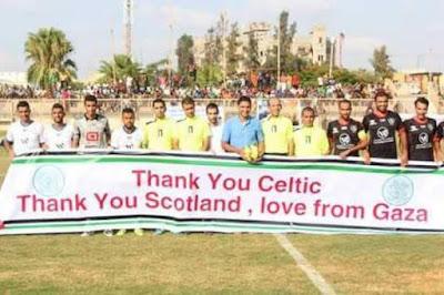 sepak bola palestina berterima kasih ke celtic
