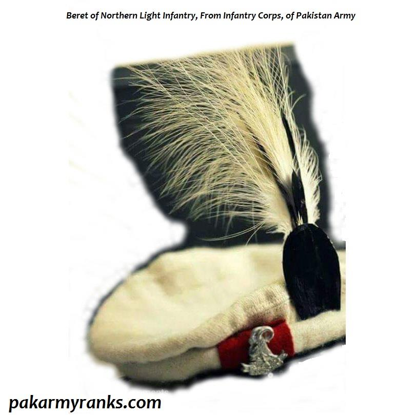 Beret Of Northern Light Infantry Regiment, NLI Of Pakistan Army